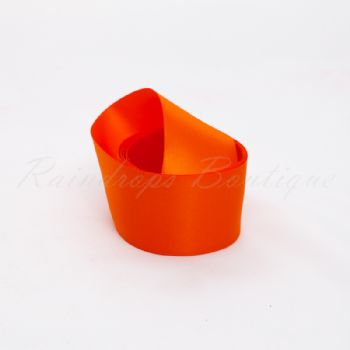 Orange Double Satin Ribbon by the Metre 38mm